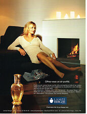 PUBLICITE ADVERTISING 124  2006  LA LAMPE BERGER  perfum d'ambiance