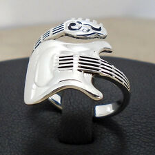 925 Sterling Silver Music Guitar Electric Ring Size 6 to 9 Adj Sol Wrap Hall New