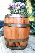 5 L Solid cherry Wood Barrel Herb Flower Planter Pot For Garden Patio reclaimed