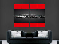 NISSAN GTR POSTER EVOLUTION SKYLINE  CAR SPEED RETRO WALL  PRINT LARGE HUGE