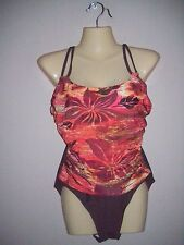 FantaSizer Suit Womens Size 8D NWOT One-Piece Underwire Bra Support Swimsuit