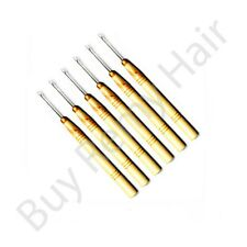 6 x Hair Extension Tool Pulling Needle/threader For Micro Rings/ Beads
