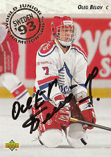 OLEG BELOV RUSSIA AUTOGRAPH AUTO 93-94 UPPER DECK WORLD JUNIORS #274 *22231