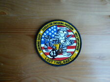 VF-41 Black Aces Patch Enduring Freedom F14 TOMCAT Last Time Baby Original CVW-8