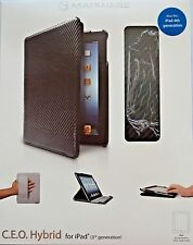 Marware CEO Hybrid for iPad 3+4 CarbonFiber Black New Sealed Fast Free Shipping!
