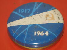 OLD Anniversary Great October Revolution 1917-64 Big Tin Candy Box Soviet Russia