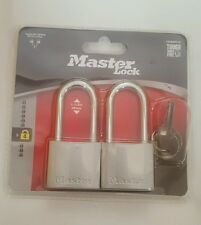 """MASTER LOCK 740ESPTLF PACK OF 2 PZ LOCKS KEYED ALIKE 1 1/2"""" SHACKLE"""
