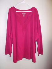 WOMAN WITHIN WOMENS SHIRT-SIZE: 5X--PINK-L/S-GREAT-FAST SHIP