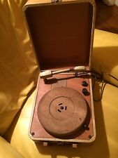 Vintage Columbia Record Player Model 312 Antique Turntable Phonograph in Case