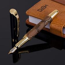 LANBITOU 287 Brown Leather Wrapped Medium Nib Fountain Pen