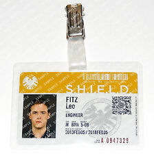 Marvel Agents of S.H.I.E.L.D. Leo Fitz ID Badge Cosplay Costume Prop Comic Con