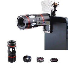 4 in 1 Fish Eye Wide Angle Macro Telephoto Camera Lens for iPhone 7 6S 6 Plus 5S