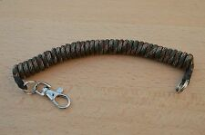 PARACORD COILED LANYARD/ KEYRING FOR SECURING TACTICAL KIT (Woodland Camo)