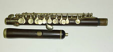 Beautiful antique unmarked full boehm piccolo/flûte