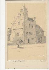 Grammar Hall Magdalen College Oxford Fred Richards Vintage Art Postcard 304a