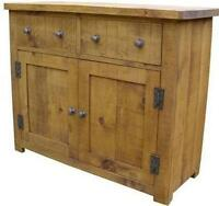 ( any size made ) SOLID WOOD DRESSER BASE SIDEBOARD CUPBOARD RUSTIC PLANK PINE