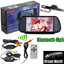 "Wireless Camera+7"" Car Rear MP5 Bluetooth Mirror Monitor View Parking Vedio Kit"