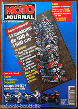 MOTO JOURNAL 16/06/1994; Super Comparatif Customs de 500 à 1500 cm3
