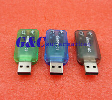 CM108 Chipset USB 2.0 to 3D AUDIO SOUND CARD ADAPTER VIRTUAL 5.1 CH Sound Track