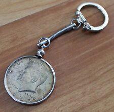 John F. Kennedy Keychain 1966 Silver Half Dollar