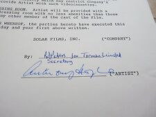 ANTHONY HOPKINS RARE Signed Autographed 2 Page 1986 Movie Contract PSA Certified