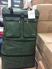 "36"" 5 Rolling Wheeled Large Duffle Bag Spinner Suitcase Expandable Luggage - New"