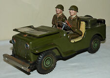 Vintage Rare Tin Japan Nomura Toy - Jeep Army Car Vehicle With Soldiers