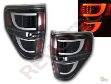 2009-2014 Ford F150 F-150 Pickup G2 Black LED Tube Tail Lights Lamps RH & LH