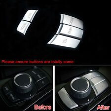 Interior Multi-Media Switch Button Cover Trim ABS 5Pcs For BMW 1/5/7 Series X1