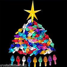 Vintage Ceramic Christmas Tree 62 Med Twist Bulb Lights & Large G Star + *BONUS*