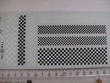 decalque decals decalcomanie ancien dessin damier noir et blanc 1/24