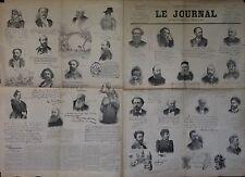 """""""LE JOURNAL Supplément spécial n° 527 du 8/3/1894"""": Autographes Album MARIANI"""