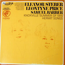 ELEANOR STEBER/LEONTYNE PRICE Knoxville Summer of 1915/Hermit Songs LP. 1968