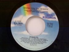 "PEBBLES ""GIVING YOU THE BENEFIT / SAME"" 45 MINT"