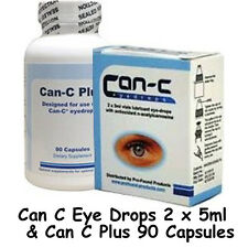 CAN-C Eye Drops 2x 5ml + CAN-C Plus 90 capsules for the treatment of cataracts