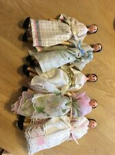 Five Wood Pin Dolls Dress In Handkerchief Dresses