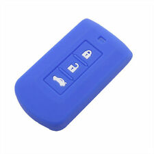 Blue Car Remote Key Silicone key Cover Shell fit for MITSUBISHI Lancer Grandis
