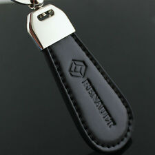 2016 Black Leather Metal Alloy Car Logo KeyChain Key Ring for Renault S.A