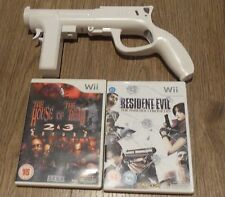HOUSE OF THE DEAD 2 AND 3 RETURN + RESIDENT EVIL + ZAPPER GUN=NINTENDO Wii