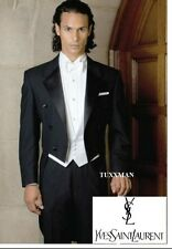 40 XL Black Full Dress Tuxedo Tailcoat Tux White Tie Tails Yves Saint Laurent