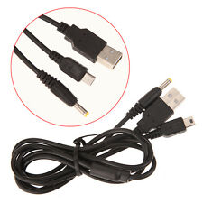 1.2M 2in1 USB Data Charge Charging Cable Cord For Sony PSP 1000 2000 3000 Black