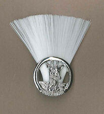 TANZANIA SCOUTS - DISTRICT SCOUT / LEADER (WHITE COLOR) Metal Plume / Hat Patch
