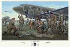 Print Signed by C-47 pilots whose squadron dropped Dick Winters & 101st on Dday