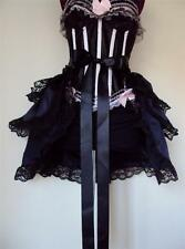 Black Navy Steampunk Burlesque  Bustle Belt Cape Shrug Skirt Onesize