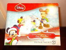 DEPT 56 MICKEY'S MERRY CHRISTMAS VILLAGE SNOW FORT FUN MIB L@@K