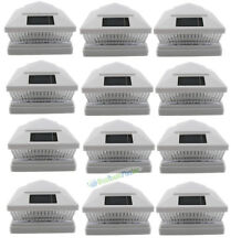 6x6 Solar Powered Outdoor Solar Post Cap Fence White Lights 5LED 12 Pack