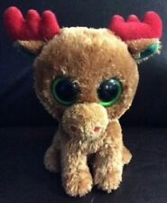 Ty Brown/ Red/ Green Reindeer PROTOTYPE Beanie Boos- 100% Authentic -RARE