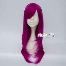 Fancy Dress Halloween Long Purple Lolita Wavy Heat Resistant Anime Cosplay Wig