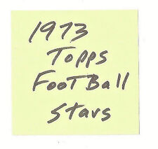 1.79 each STAR card- you pick from 1973 Topps Football set