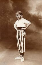BK298 Carte Photo vintage card RPPC Femme woman mode fashion pirate déguisement